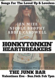 HONKEYTONKIN' HEARTBREAKER'S SHOW (VALENTINES SHOW) at The Junk Bar